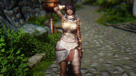 skyrim unpb huntress armor えいへいすぽっと skyrim fur huntress armor