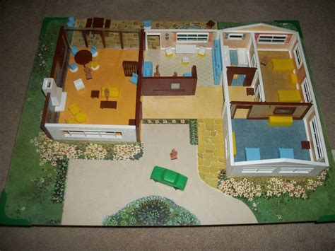 magnetic doll house rare mid modern vintage magnetic doll house set by child guidance toy