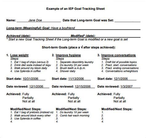 10 Goal Tracking Sles Sle Templates Iep Goal Template