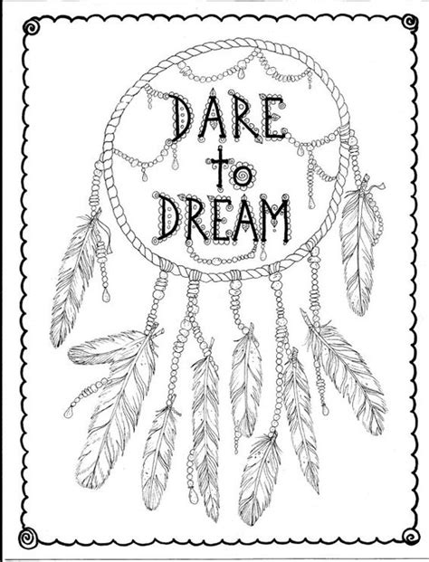 coloring pages for adults dream catchers instant download hand drawn dreamcatcher coloring page