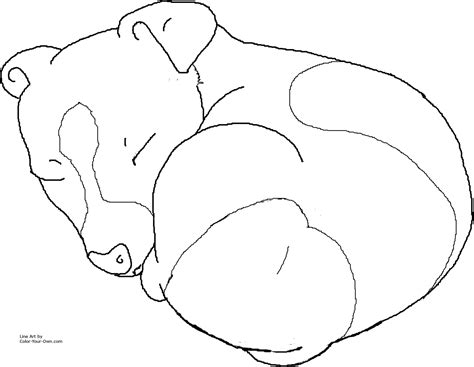 Sleeping Jack Russel Terrier Puppy Coloring Page Puppy Coloring Pages To Print