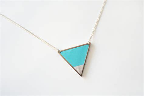 026cf1 Color Geometric Necklace Silver Color light blue triangle geometric necklace silver color dipped