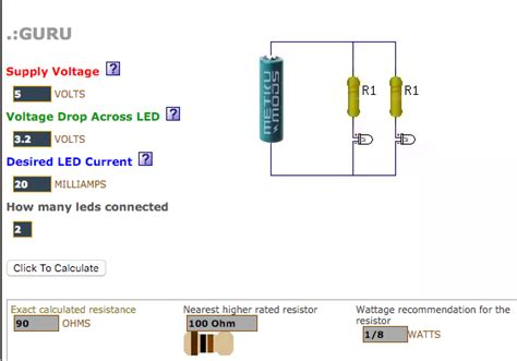 usb led resistor calculator how to make an led from a usb