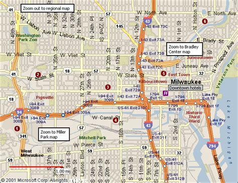 map of milwaukee milwaukee map toursmaps