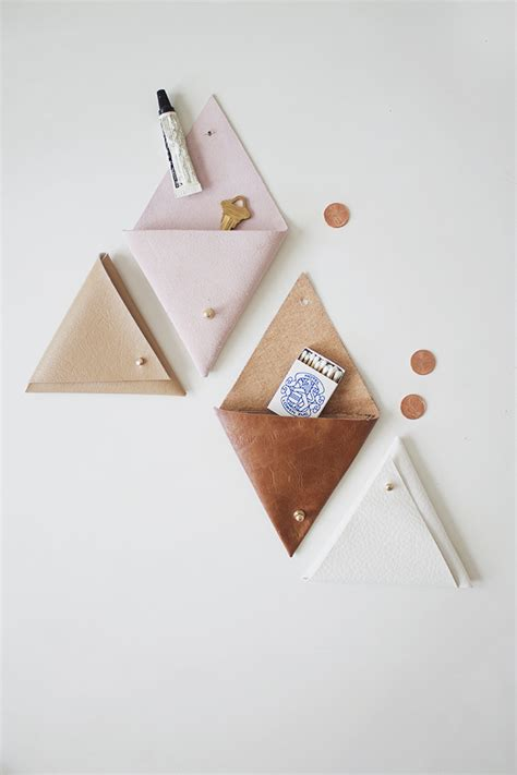 Diy Leather by Diy Triangle Leather Pouch Almost Makes