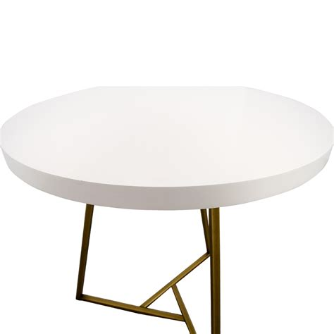 elm white table 28 elm elm white lacquer top cafe table