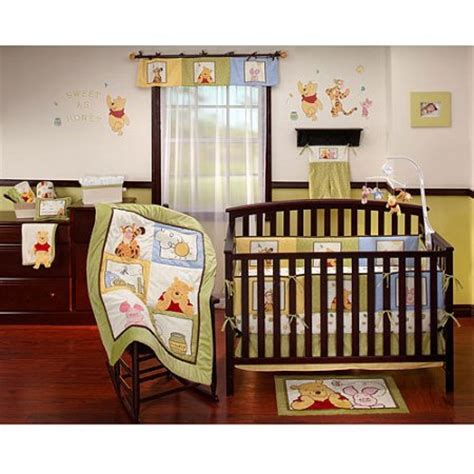 Disney Baby Winnie The Pooh Sunshine Patch 4 Piece Crib Disney Crib Bedding Set