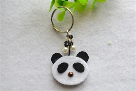 How To Make Paper Key - panda keychain family crafts