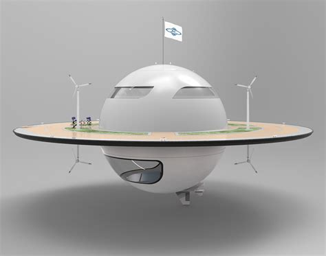 Kitchen Of The Future by Jet Capsule Unveils Unidentified Floating Object Concept