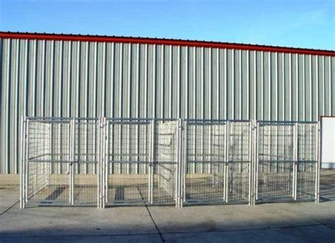 heavy duty kennels heavy duty 4 run kennel 5 x10 x6 steel construction