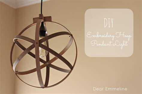 Diy Light Pendant Diy Easy Embroidery Hoop Pendant