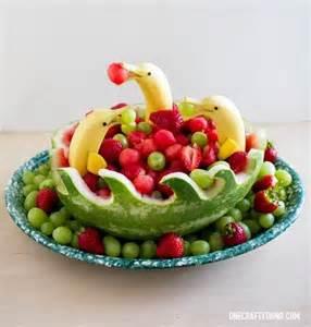 25 best ideas about fruit decorations on luau