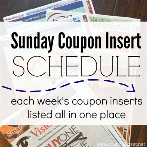 printable 2015 coupon insert schedule sunday coupon preview october 4 2015 we are getting 3