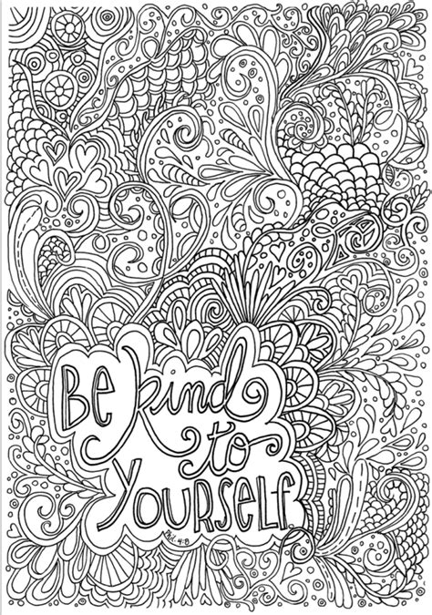 hard coloring pages be kind free abstract coloring pages for teens abstract coloring
