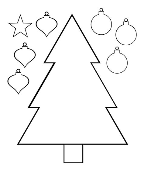 printable christmas tree activities christmas tree color and cut printable activity page