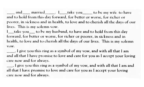 Wedding Ring Vows Catholic by Traditional Vow Text Wedding Vows