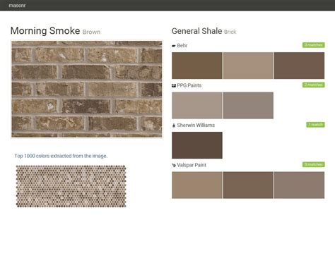 brick paint colors morning smoke brown brick general shale behr ppg