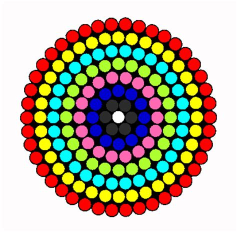 circle perler bead patterns various circle designs hama bead pattern
