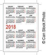 Lithuania Calendrier 2018 2018 Calendar Clipart Vector And Illustration 707 2018