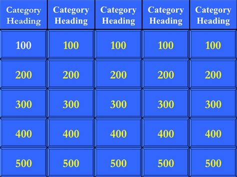 jeopardy template