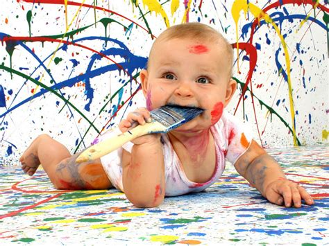 painting child artist wallpapers and images wallpapers pictures