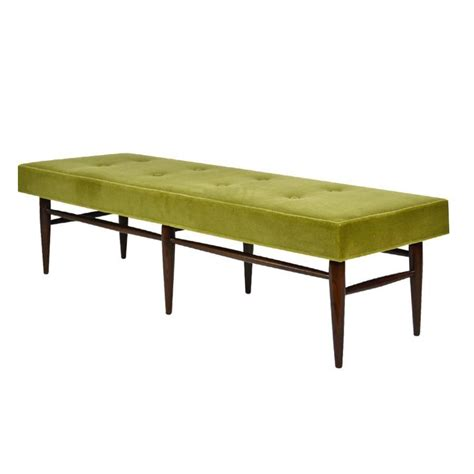 mid century bench mid century modern bench in chartreuse mohair for sale at