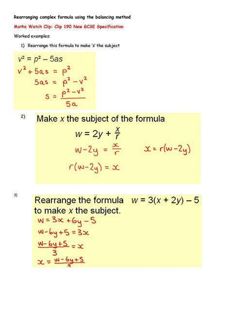 Rearranging Equations Worksheet Answers by Rearranging Equations Worksheet With Answers Tessshebaylo