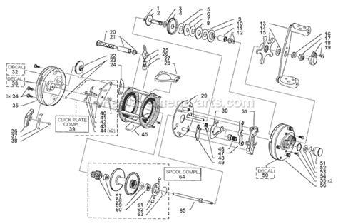 abu garcia reel parts diagram abu garcia 6500 c3 parts list and diagram 99 10