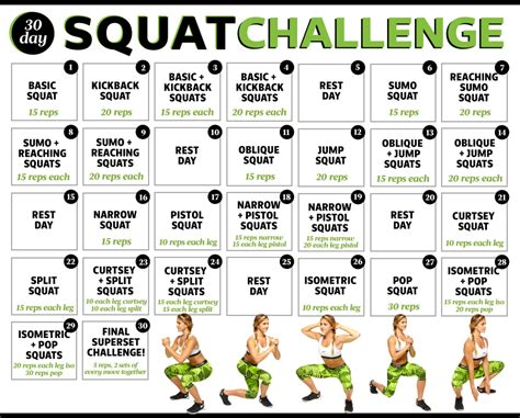 30 day squat challenge for ultimate 30 day squat challenge