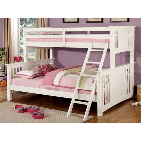 bunk bed queen over twin furniture of america roderick twin over queen bunk bed in