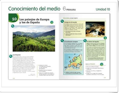 conocimiento medio andalucia 6 de unidad 4 de ciencias sociales de 6 186 de primaria quot el relieve de europa quot 6 186 primaria
