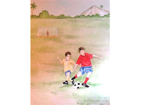 soccer wall murals sports wall murals by colette sports themed rooms