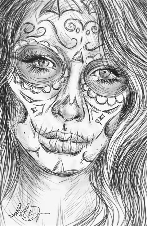 realistic angel coloring pages angel coloring pages realistic realistic sugar skull by