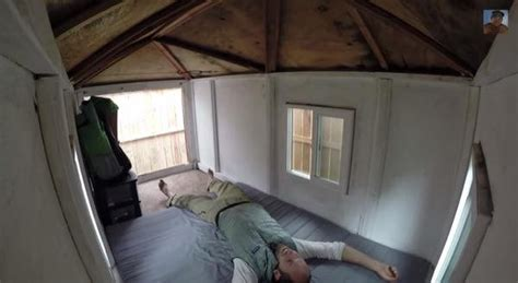 50 sq ft man living in 50 sq ft micro house he bought for 950