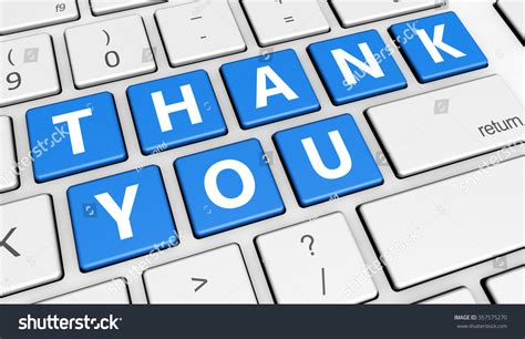thank you letter to computer thank you sign and letters on computer button key