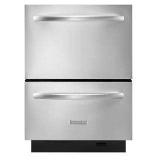 kitchenaid two drawer dishwasher kitchenaid 24 quot double drawer dishwasher stainless steel