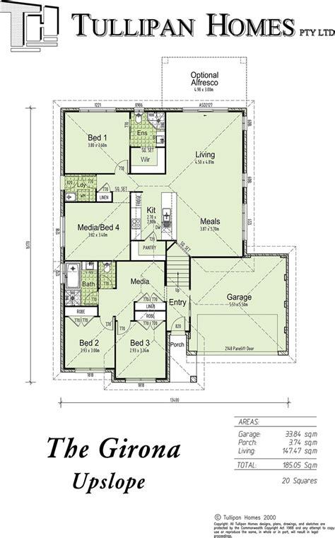upslope house designs girona upslope no alfresco home design tullipan homes