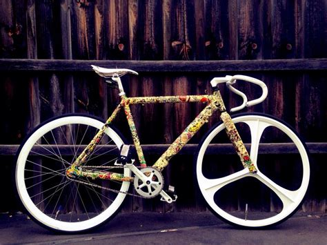 Fahrrad Sticker Bomb by Sticker Bombed Fixie Follow Us Fetchftw Or Visit Us