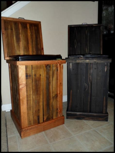 30 gallon wood kitchen trash can aftcra