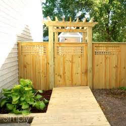 Pergola Over Gate by A Beautiful Fence And Gate With An Arbor Simply Swider