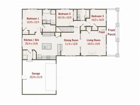 two bedroom l shaped house plans house floor plans