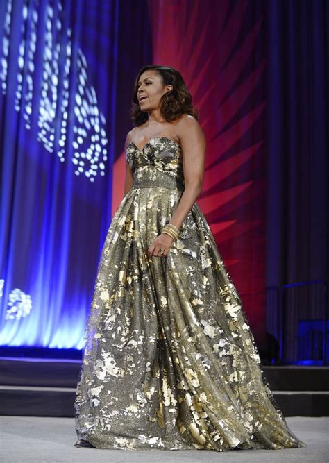 michelle obama dresses michelle obama gold dress at phoenix awards dinner 2016