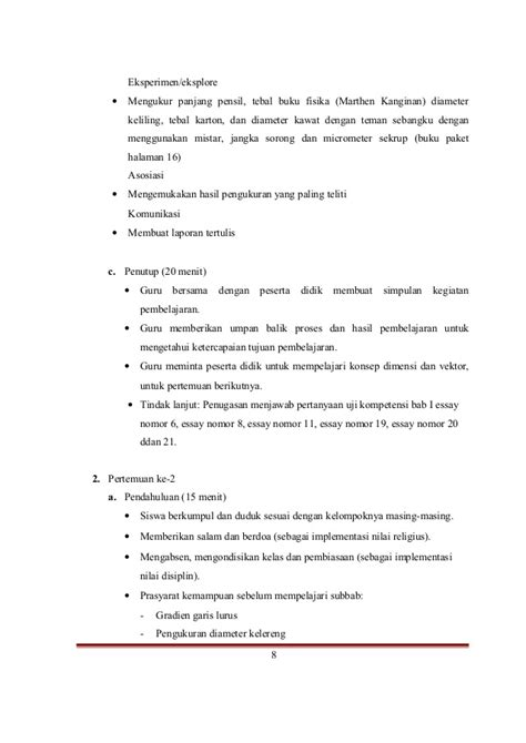 aturan membuat essay rpp fisika kelas x marthen kanginan 2013