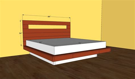 floating platform bed frame plans  woodworking