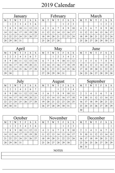 Free Printable Calendar 2019 Templates Download 2019 Calendar Free Printable Calendar 2019 Free Calendar Template 2019