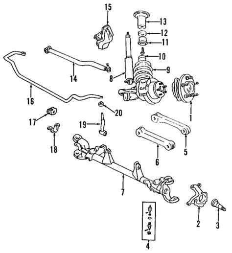 1997 jeep grand front suspension diagram suspension components for 1997 jeep grand