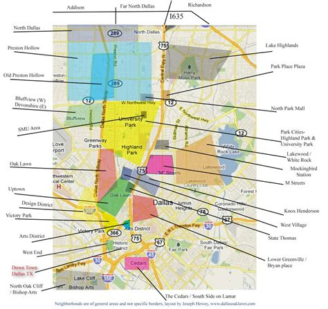 map of dallas texas neighborhoods dallas texas oak lawn area neighborhood map