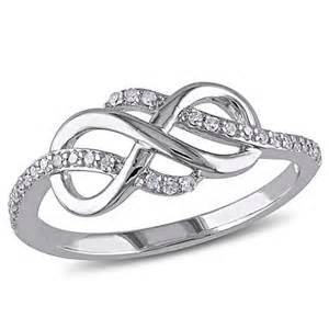 10k Gold Infinity Ring 10k White Gold Accented Quot Infinity Quot Ring 7652434