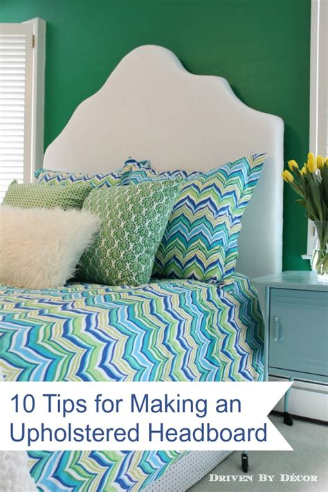 how to make headboard upholstered how to make a simple upholstered headboard driven by decor