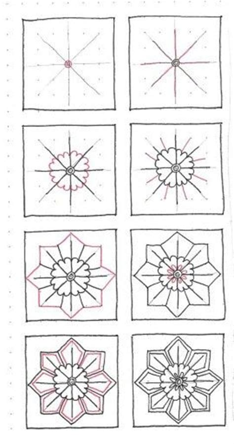 flower pattern names by tammi rapp zentangle pinterest circles name day